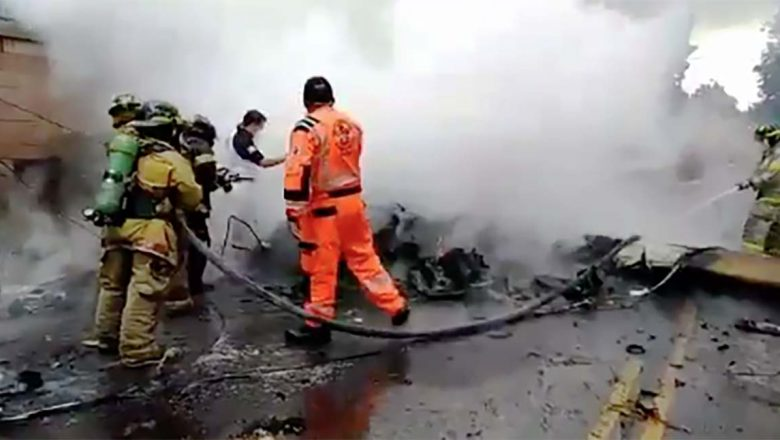 Dos muertos al accidentarse avioneta en Guatemala