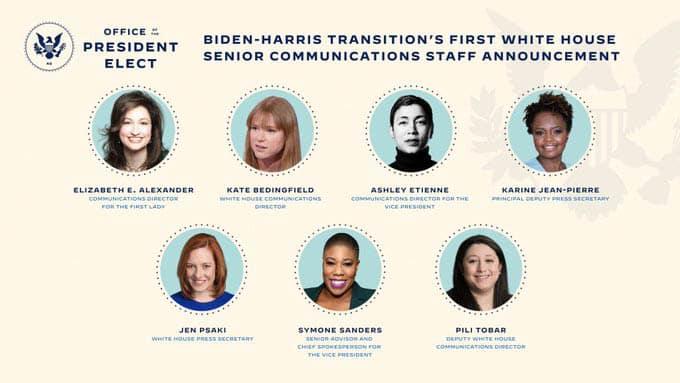 Biden nombra equipo de comunicaciones Casa Blanca