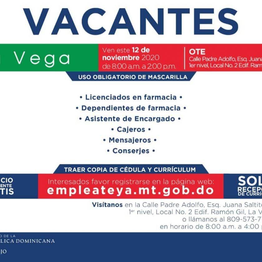 Invitan jornada de empleo en La Vega