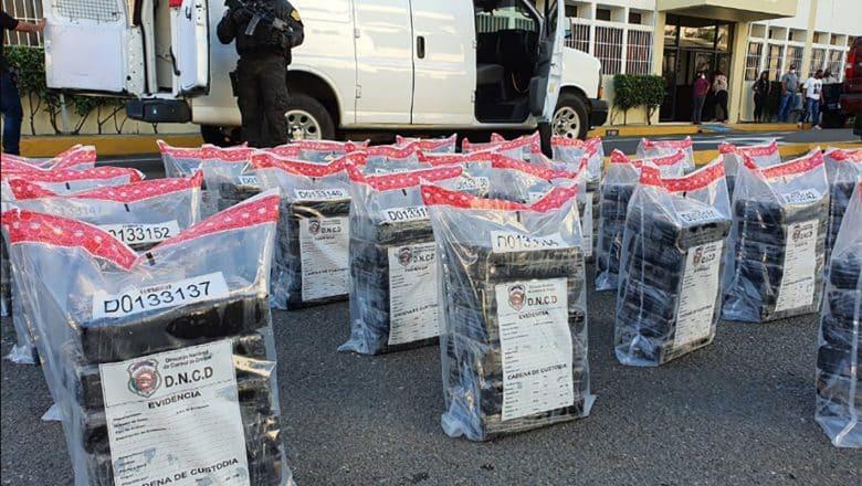 Barahona: 156 paquetes de cocaína decomisados