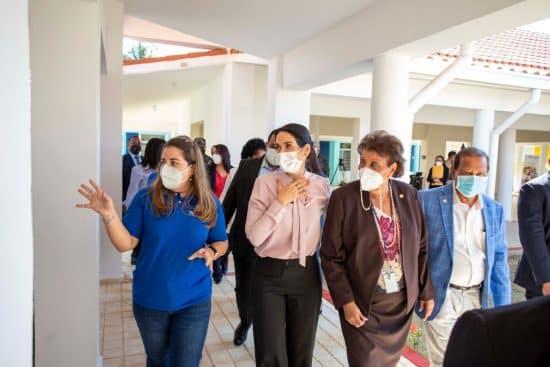 Raquel Arbaje visita Caipi La Unión, en Los Alcarrizos