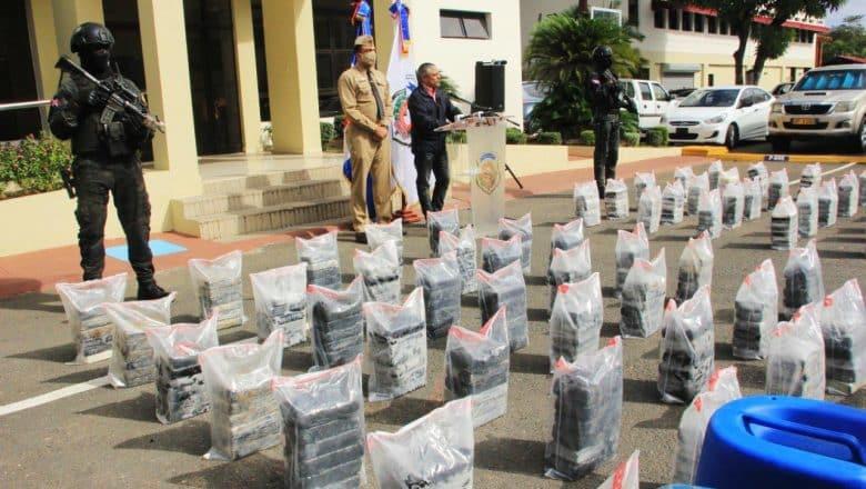 463 paquetes cocaína incautados