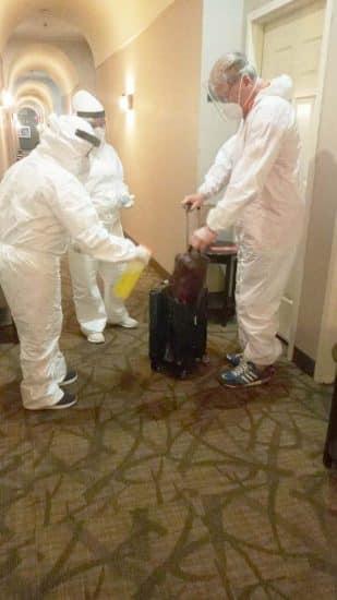 méxico desinfección maleta
