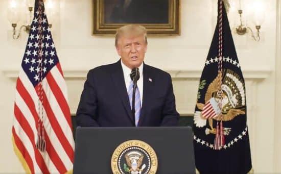 Trump condena violencia en el Capitolio