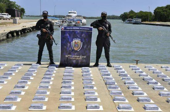 cocaína incautada por la policía de venezuela