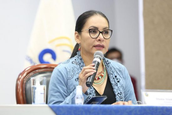 presidenta del CNE ecuador, Diana Atamaint