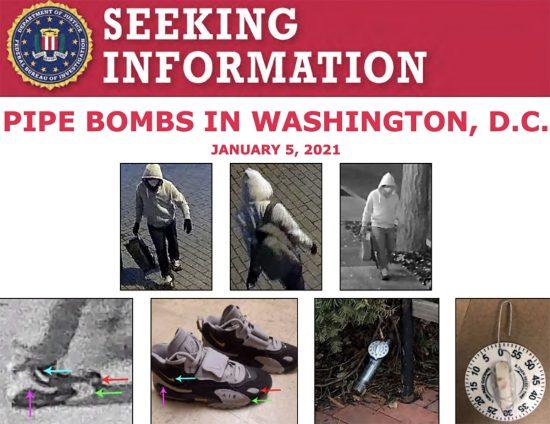 FBI presenta videos de sospechoso