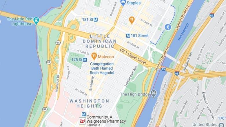 """Mapa de Google identifica Alto Manhattan como """"Pequeña RD"""""""