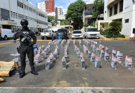 615 paquetes de cocaína