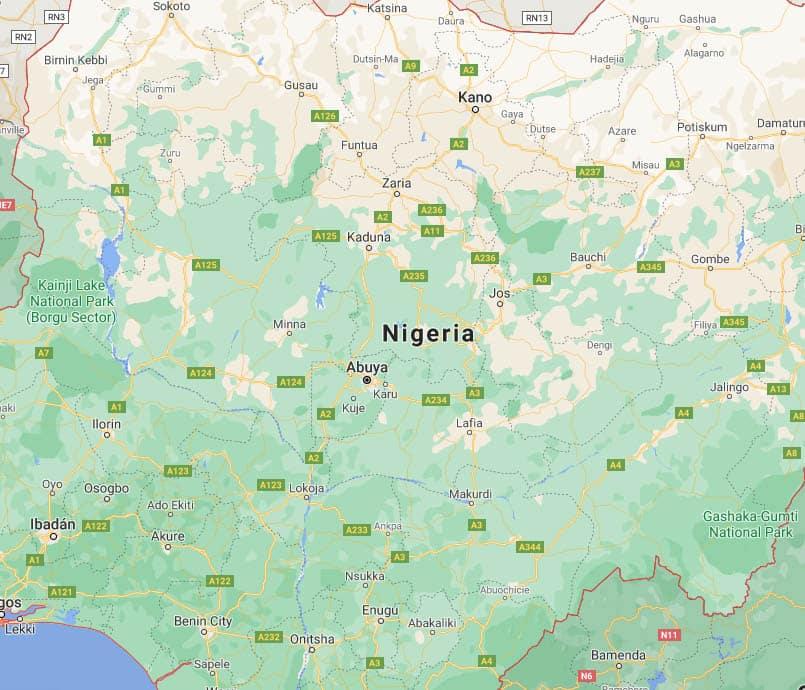 mapa nigeria