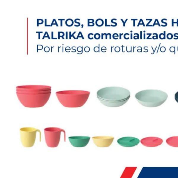 Emiten alerta sobre platos y tazas vendidos en IKEA