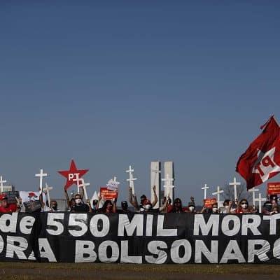 Brasil supera los 550.000 fallecidos por COVID-19