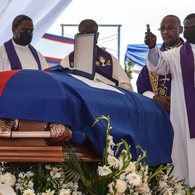 Funeral de Moise en medio de protestas en Haití