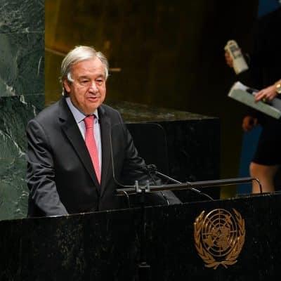 El mundo está al borde del abismo: Jefe de ONU